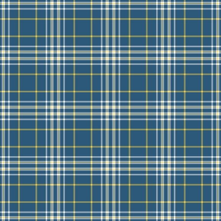 Seamless Blue, White, & Yellow Plaid