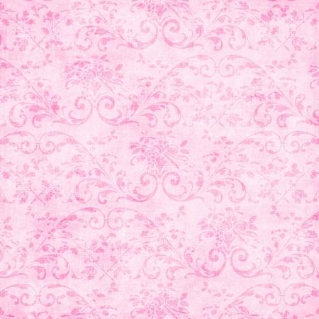 Vintage Pale Pink Floral Tapestry