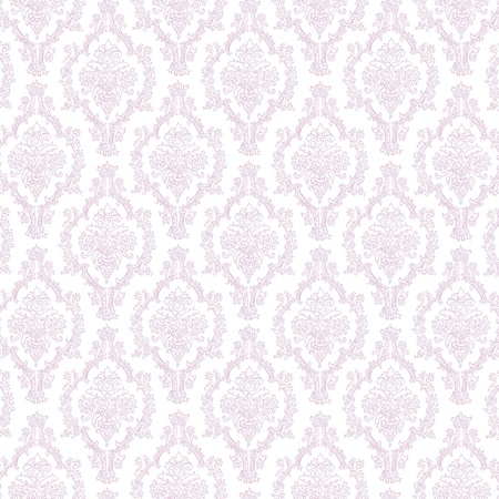 Seamless Lavender & White Damask photo
