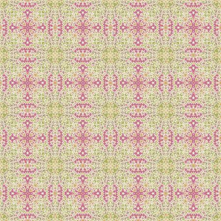 Seamless Ornate Damask Style Pattern photo