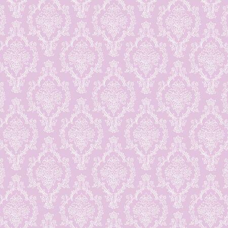 Seamless Lavender & White Damask  Imagens