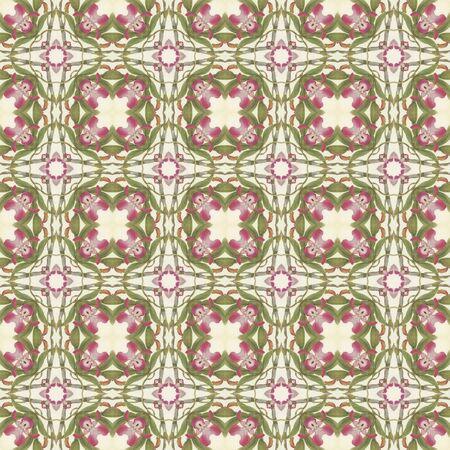 Seamless Floral Kaleidoscope Stock Photo - 16927597