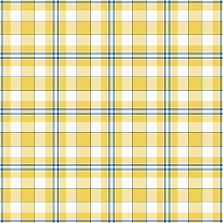 Seamless Yellow, White, & Blue Plaid Stock Photo - 16927592