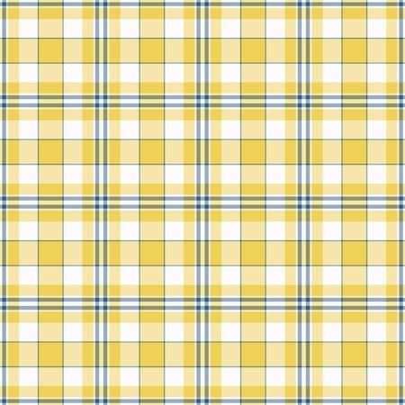Seamless Yellow, White, & Blue Plaid