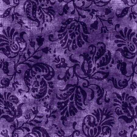 Vintage Purple Floral Tapestry Stock Photo - 16981668
