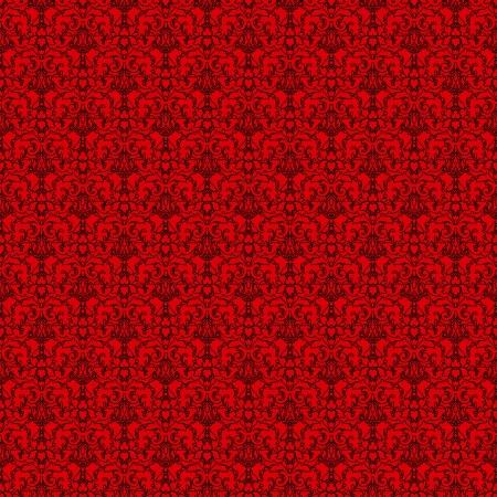 Seamless Red & Black Damask photo