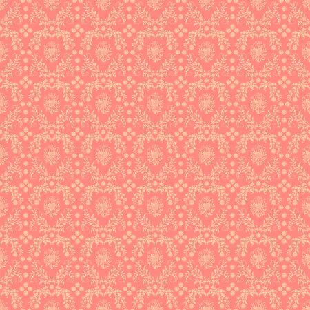 Seamless Pink Damask Background Stock Photo - 17057670