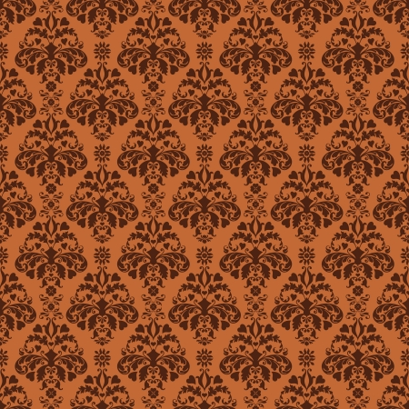 victorian wallpaper: Seamless Brown Damask