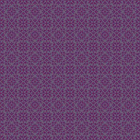 Seamless Purple Damask Stock Photo - 17097089