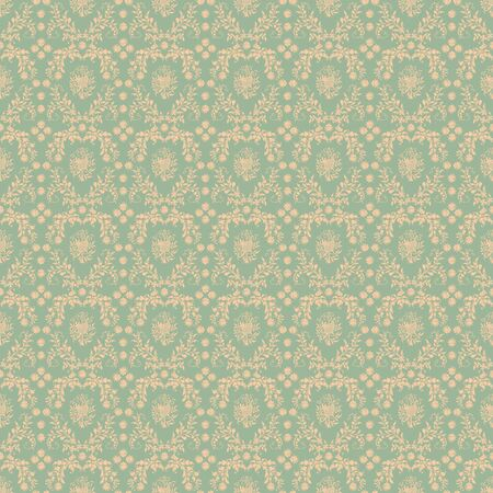 Seamless Soft Green Damask  photo
