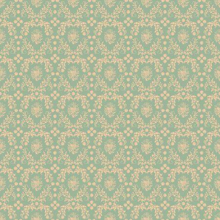 Seamless Soft Green Damask Stock Photo - 17122974