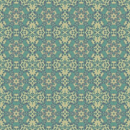 Soft Seamless Intricate Floral Pattern photo