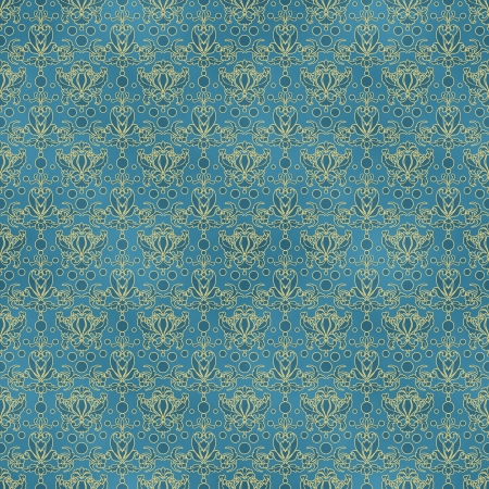 victorian wallpaper: Seamless Blue Damask Pattern