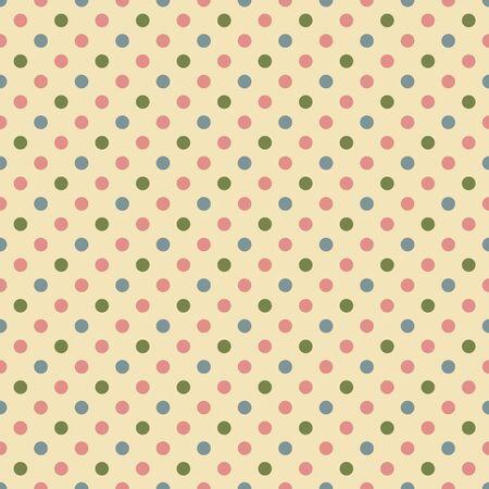 pattern pois: Seamless Pattern Polka Dot Archivio Fotografico