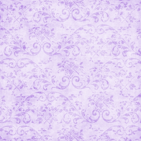 Vintage Pale Lavender Floral Tapestry  Imagens