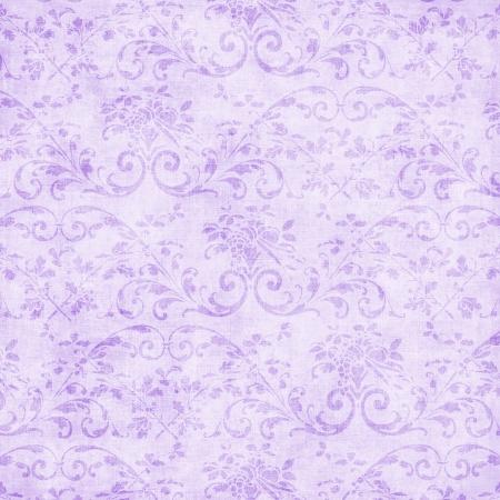 Vintage Pale Lavender Floral Tapestry  Stock Photo