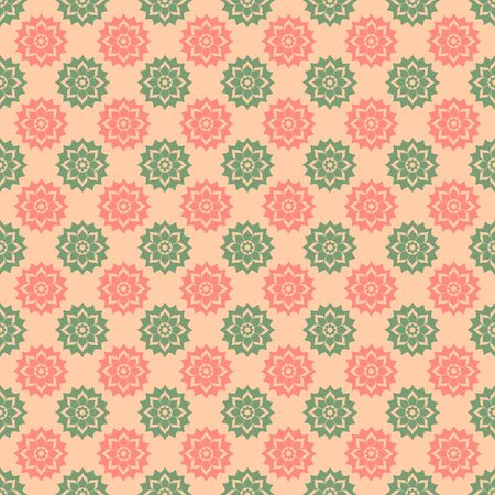 Pink & Green Floral Medallions photo