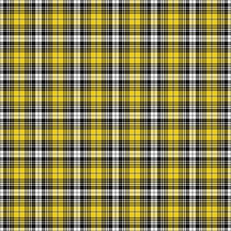 黒、黄色、白の格子縞