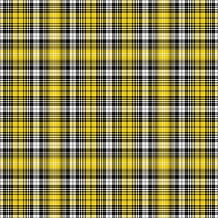 Black, Yellow,   White Plaid Stock Photo