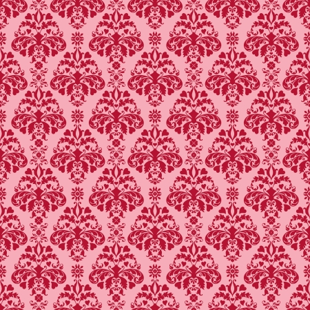 Seamless Pink & Cherry Red Damask photo