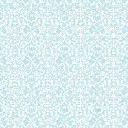 Seamless Pastel Blue & White Damask Stock Photo - 17319613