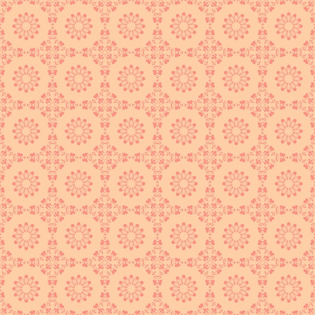 Seamless Pink Floral Damask Medallions Stock Photo