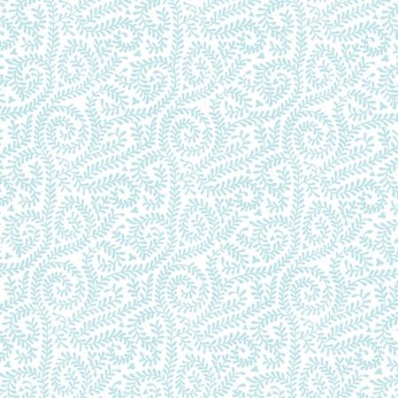 白つるパターンにパステル ブルー 写真素材