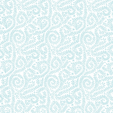 chic: Pastel Blue on White Vine Pattern Stock Photo