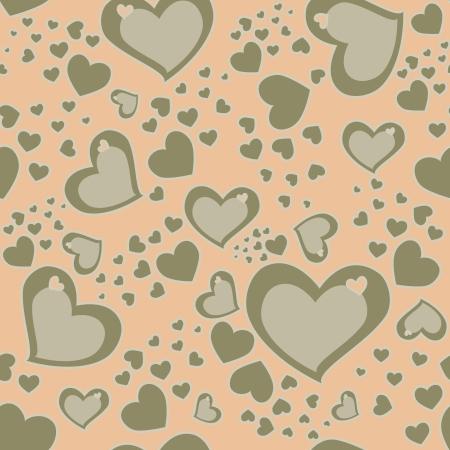 Seamless Hearts Background photo