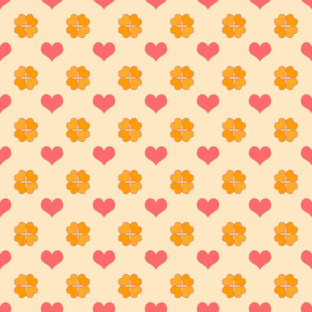 Seamless Bright Hearts Pattern photo