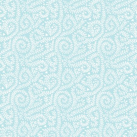 White on Pastel Blue Vine Pattern photo