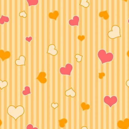 Seamless Hearts & Stripes