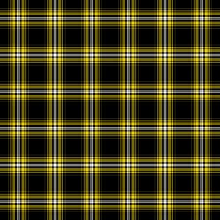 Black, Yellow,   White Plaid Stock Photo