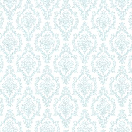 Seamless Pastel Blue   White Damask