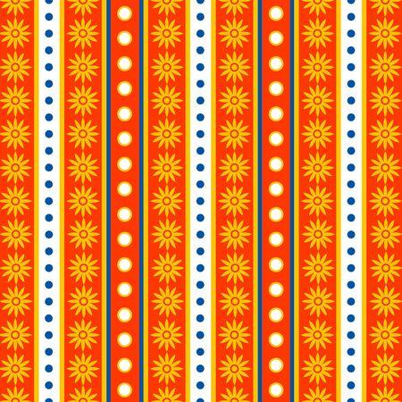 Seamless Stripes   Flowers