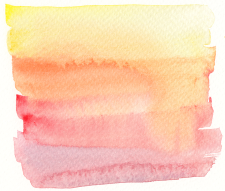 yellow red: watercolor banner background in yellow red and orange tones