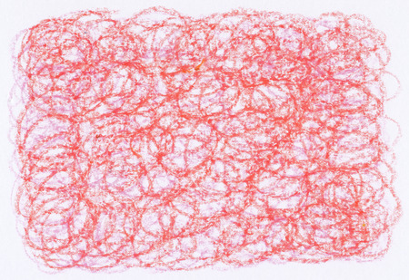 loop: abstract crayon loop textures red color on white paper background
