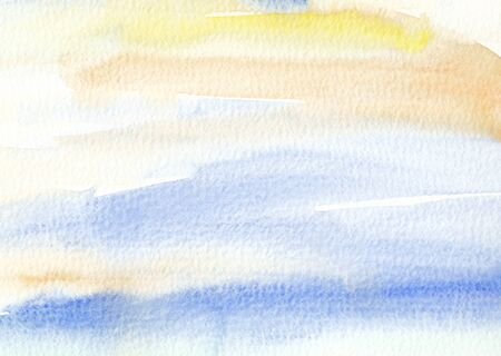 is wet: watercolor wet background in yellow blue colors