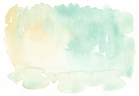 faded: light tones faded yellow green watercolor background Stock Photo
