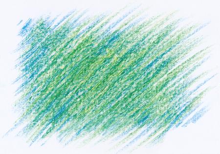 crayon: hand drawn green blue abstract crayon background