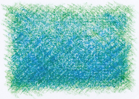 blue green abstract crayon background