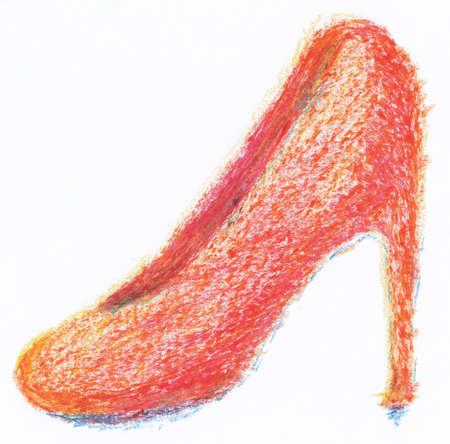 high heel shoe: high heel shoe from crayon
