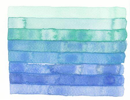 blue stripe: watercolor green blue stripe