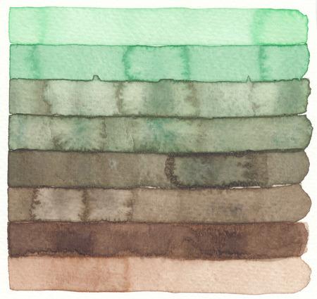 sienna: watercolor earth tones stripe pattern