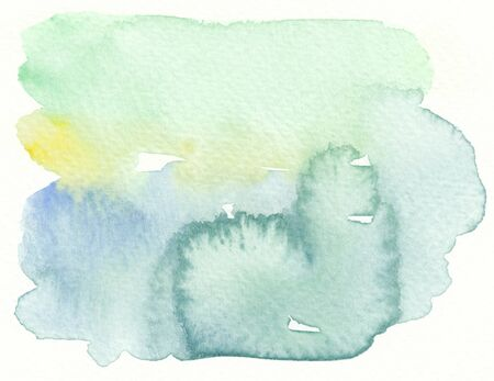 wet: abstract wet watercolor background in blue green tones
