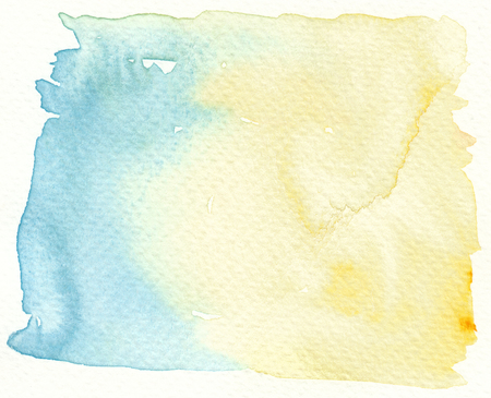tones: faded light tones blue yellow abstract background Stock Photo