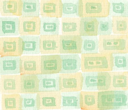 faded: hand drawn watercolor pattern background in faded green tones