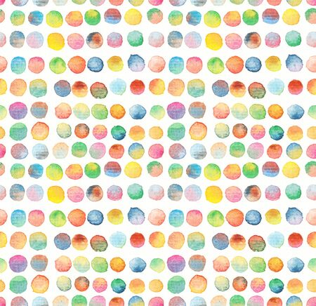 pink brown: seamless dots pattern watercolor background