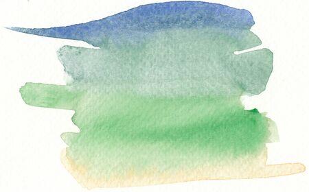 brushstroke: colorful watercolor brushstroke background in cold colors tones