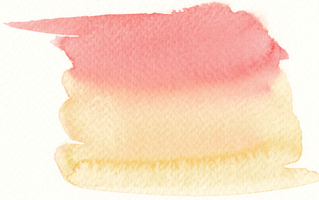tones: colorful watercolor brushstroke background in hot colors tones Stock Photo